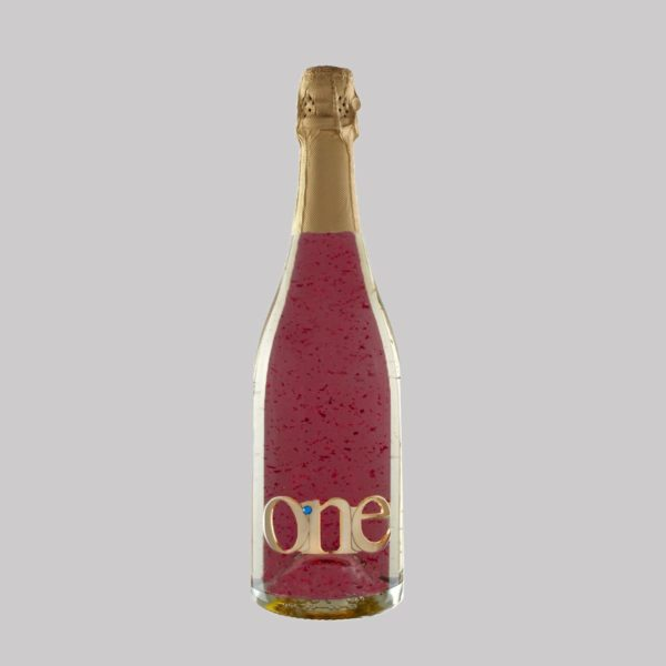 one gold sparkle wine rose
