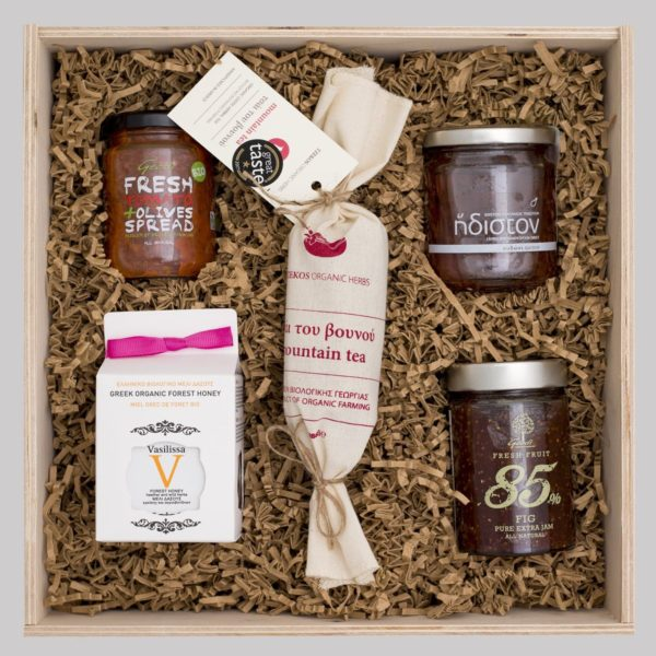 giftbox-mountain tea-2 jams-honey-tomato spread