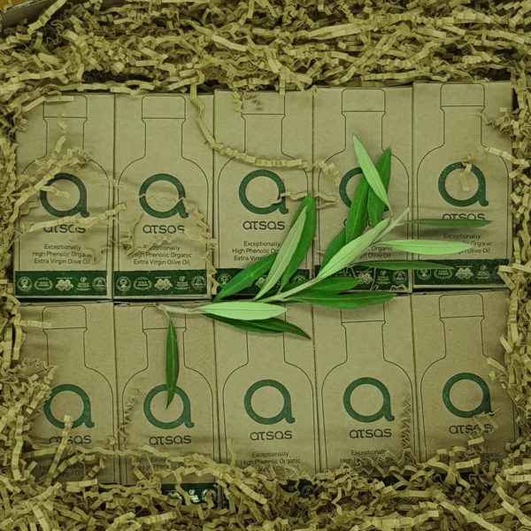 10 x 100 ml free shipping aatsas organic high phenolic olive oil