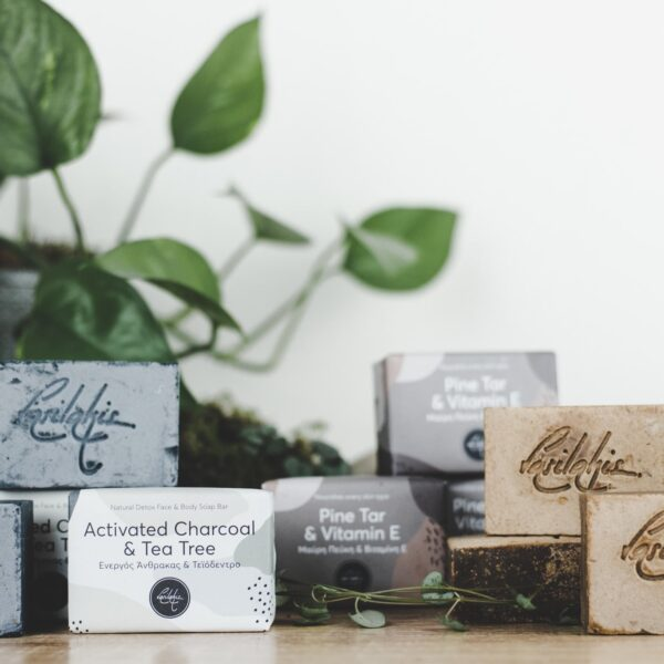 activated charcoal handmade soap bar