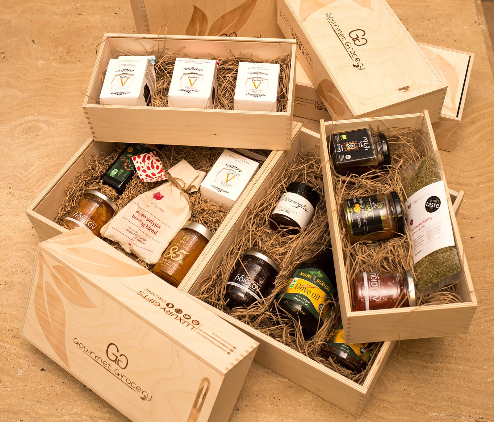 Gourmet Groceries Gift Boxes