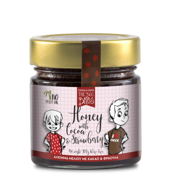 Bee Bros Honey with Cocoa and Strawberry