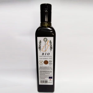 the organic evoo 500 ml back side