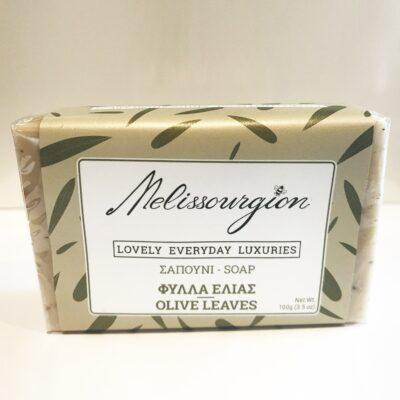 melissourgion olive leaves soap