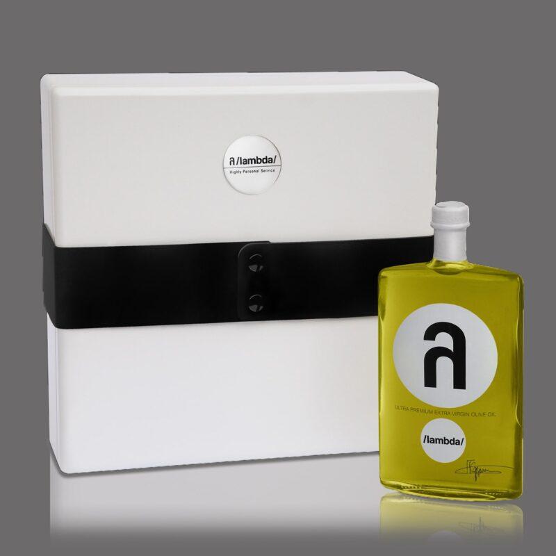 λ /lambda/ ultra premium olive oil 500 ml bespoke silver edition