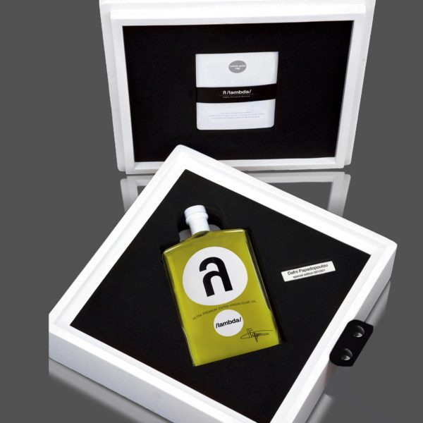 λ /lambda/ ultra premium olive oil 500 ml bespoke silver edition